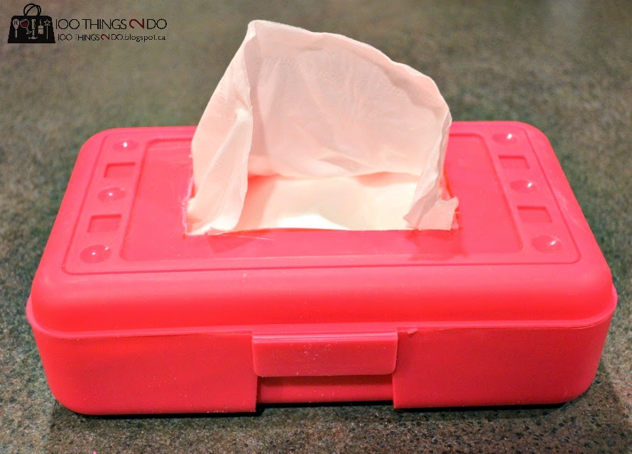 Tired of mangled kleenex boxes in your car? This easy tip will save the box and the kleenex from moisture and damage