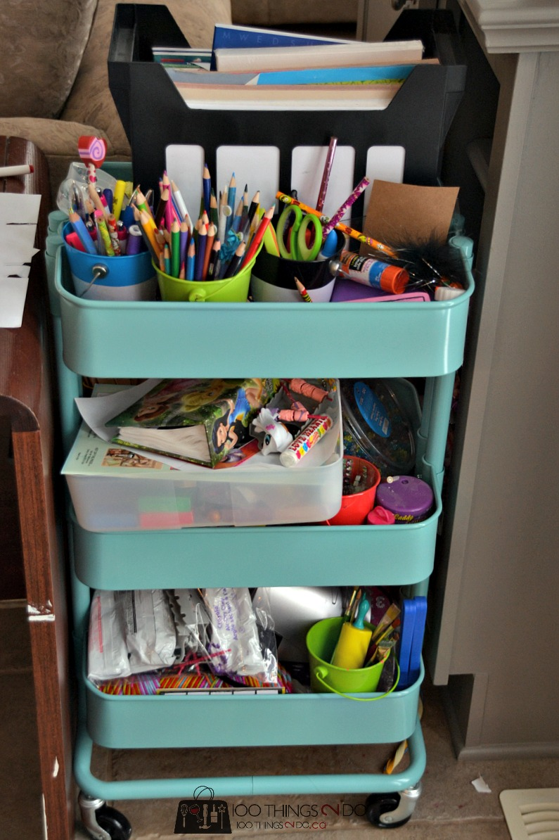 Organizing kids crafts 1