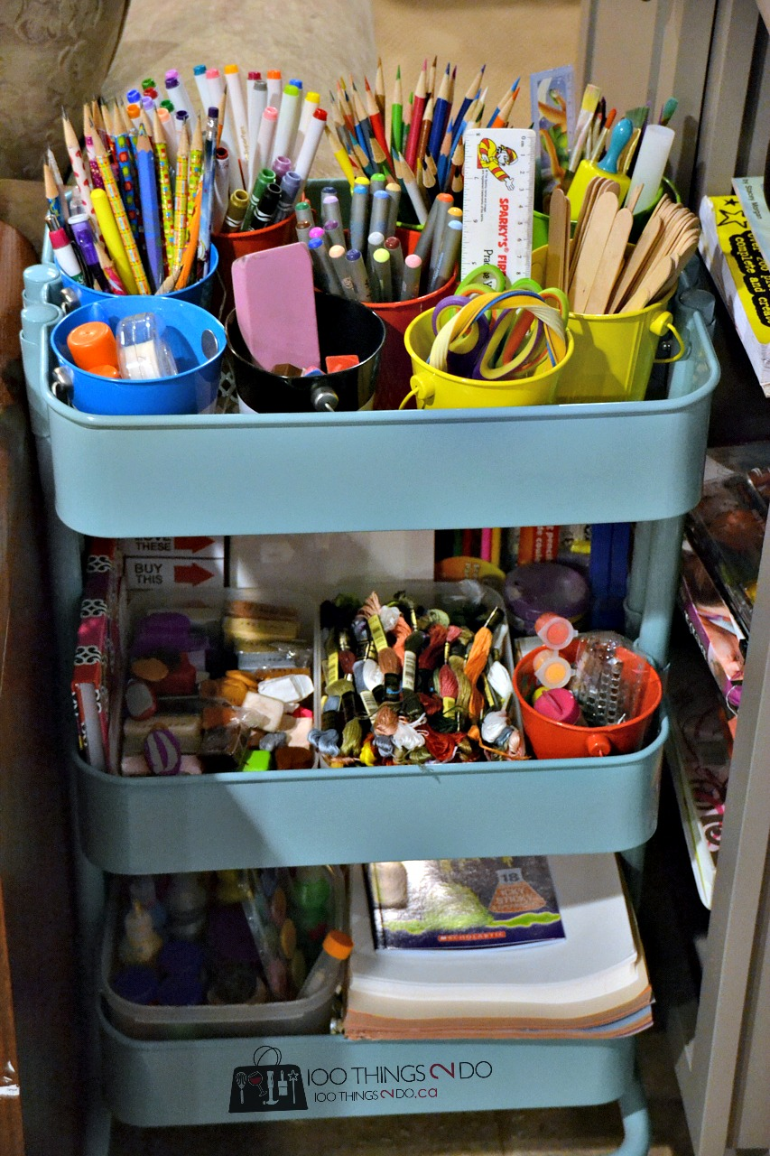 Organizing kids crafts 24