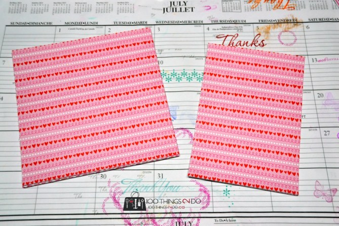 heart-pattered cardstock