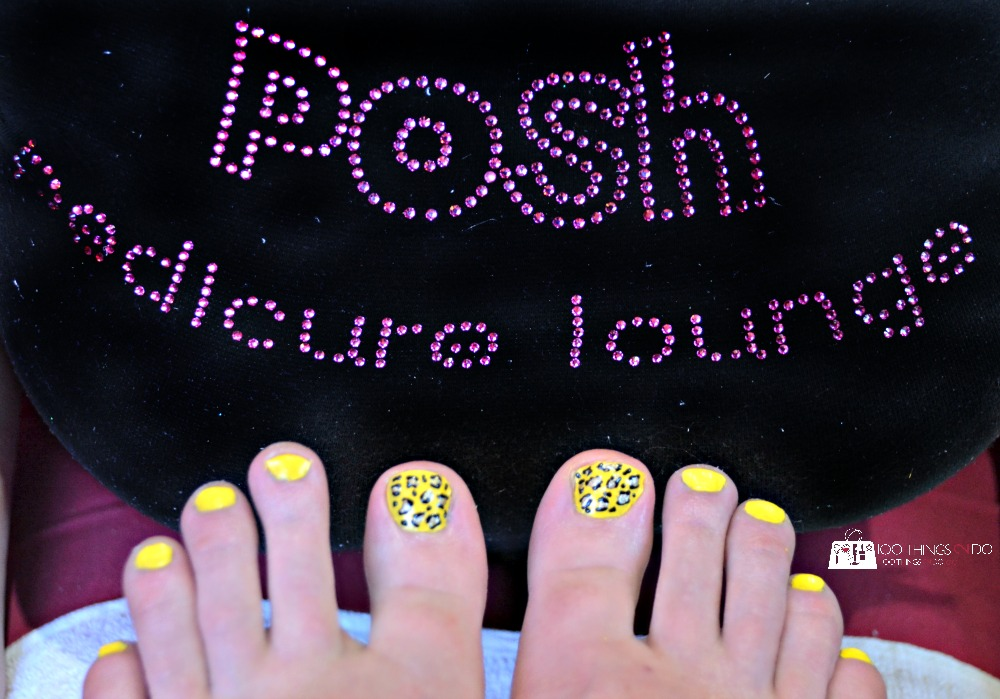 Cheetah pedicure - Posh Pedicure Lounge