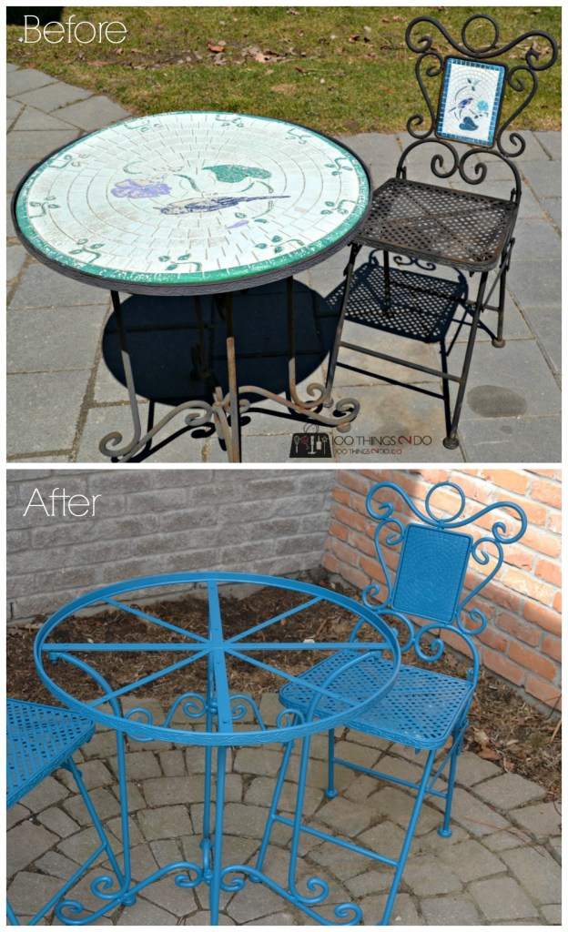 Bistro set - before and after