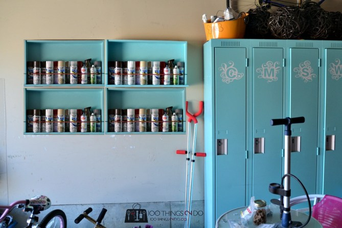 Dresser drawers turned wall shelves