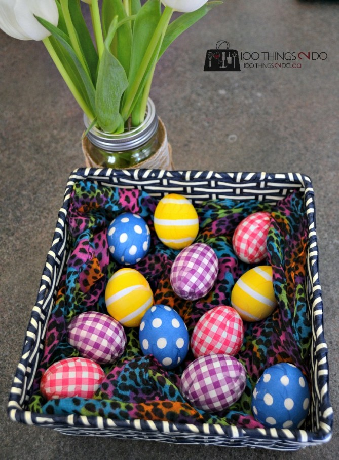 Napkin covered Easter Eggs