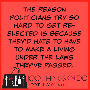 Too funny: Politicians