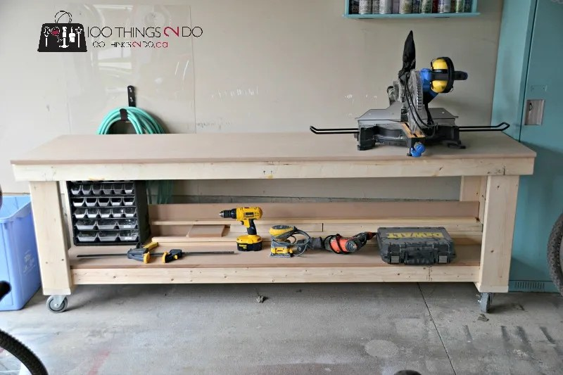 DIY Workbench with free plans from Shanty 2 Chic