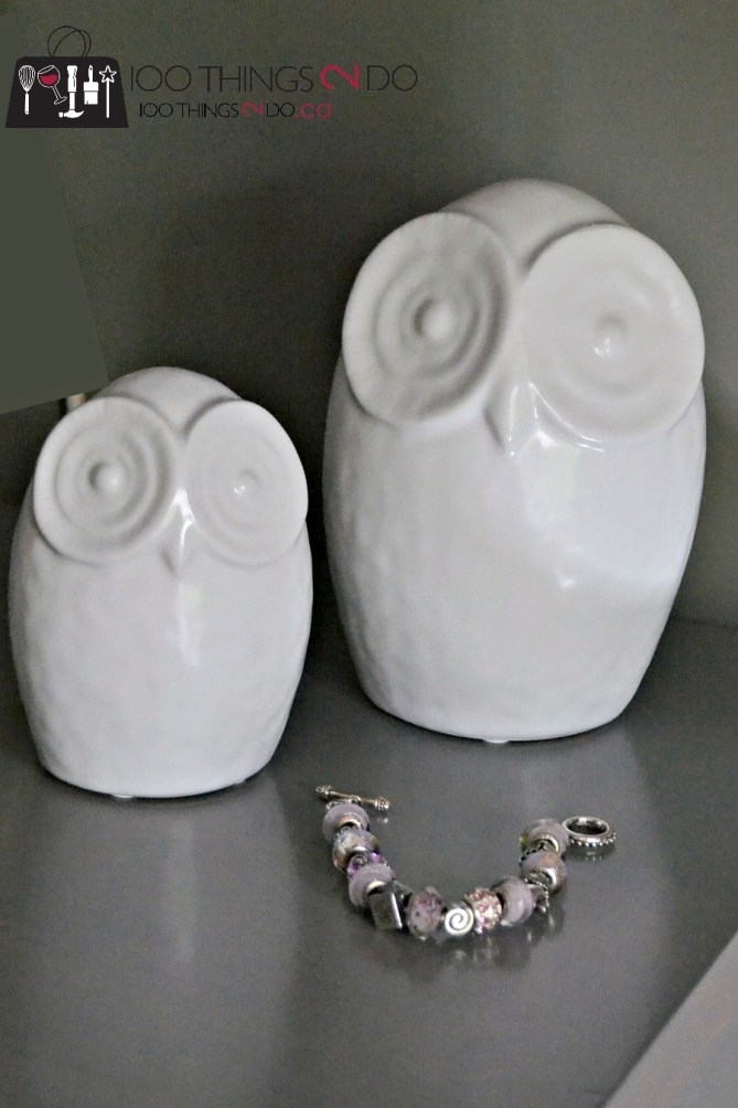 Ceramic owls - home decor