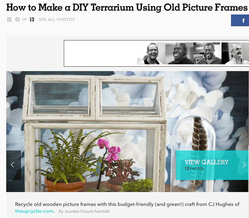 DIY Terrarium from old picture frames