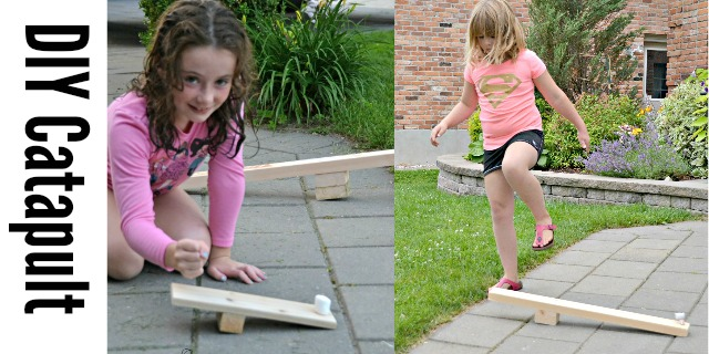 DIY catapult for kids
