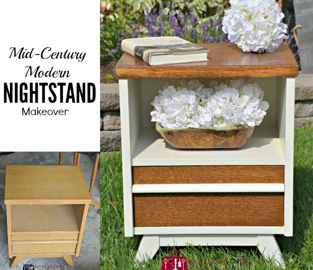 Nightstand/bedside table makeover
