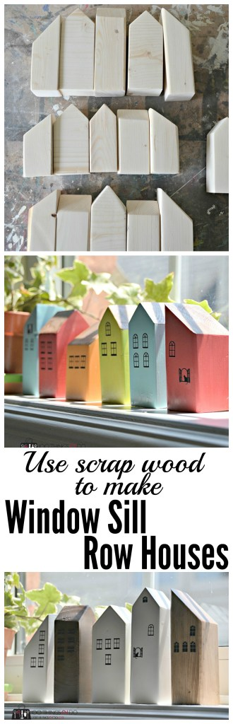 scrap wood decor, scrap wood project, scrap wood houses, wood houses, mini houses