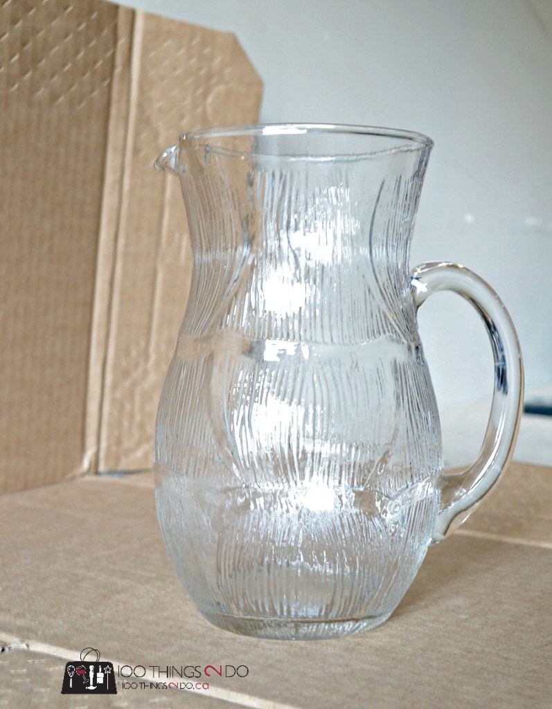 DIY white pitcher, create your own white pitcher, white pitcher, farmhouse decor, farmhouse DIY
