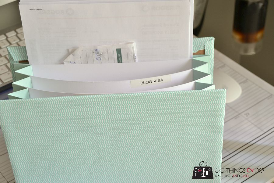 DIY paper accordion folder - photo tutorial