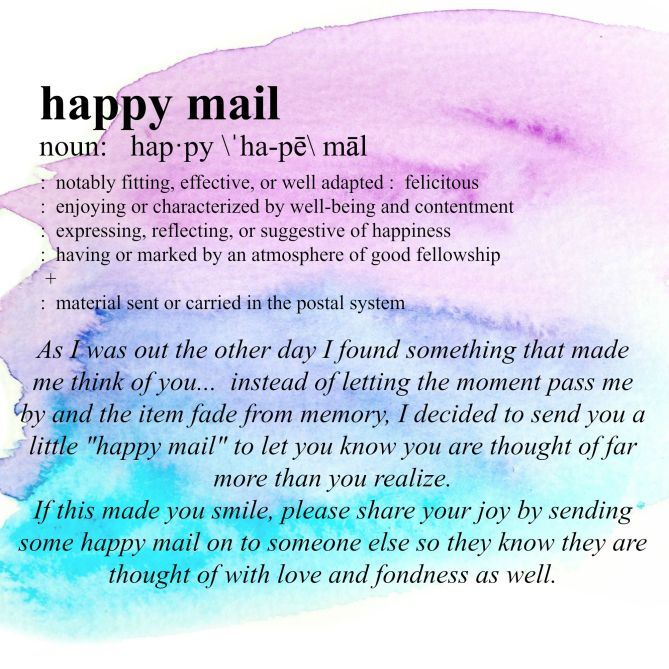 Happy Mail printable