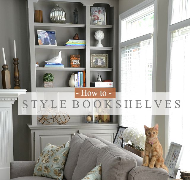 How to style bookshelves - What you can do with acorns a bit of health and embellishment ...