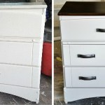 Dresser Makeover - from white and kid-like to warm and grown-up