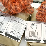 Hallowe'en fun, Hallowe'en printable, You've been boo'd, boo'd, Boo'd poem, Booing