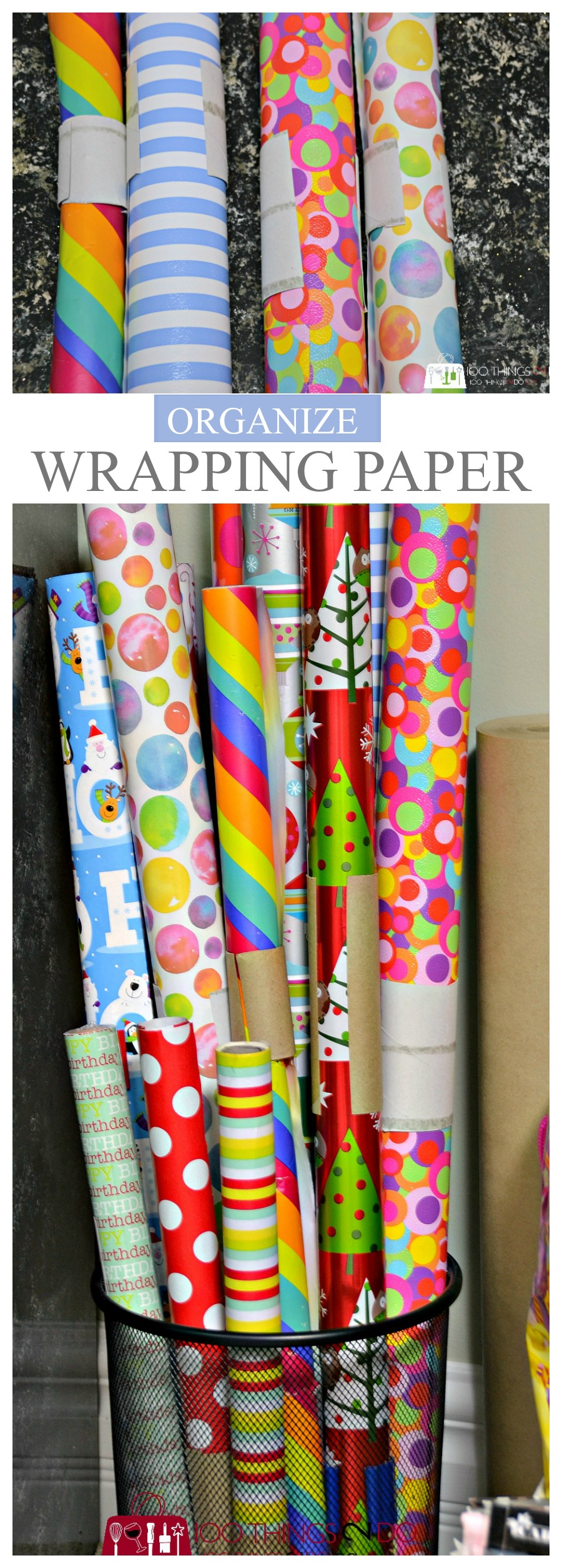 Wrapping paper storage P