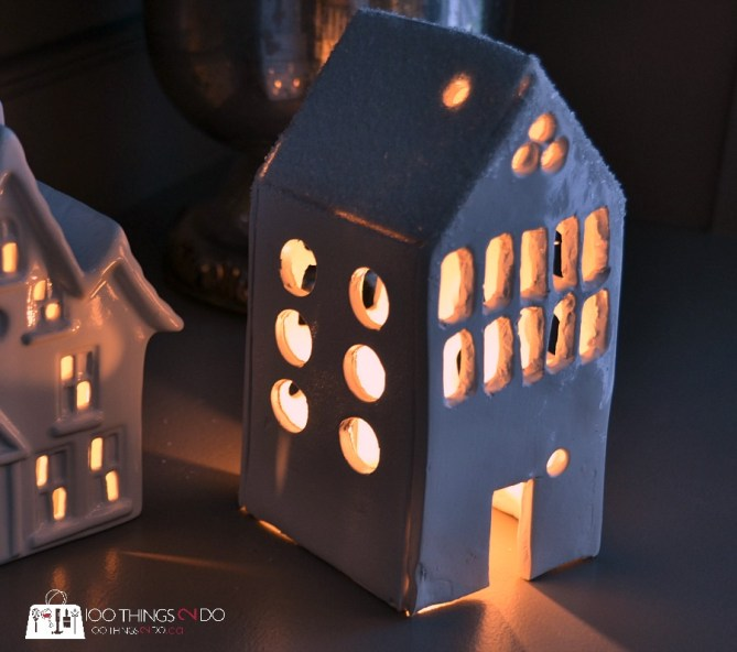 Ceramic tea light house 7