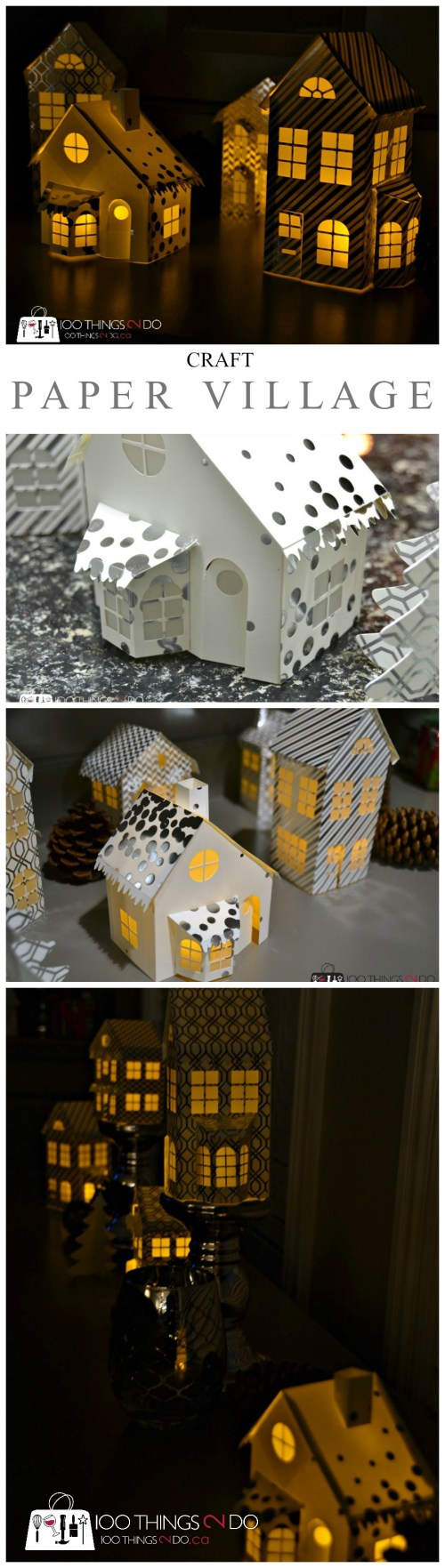 Craft your own Christmas Village - out of paper!