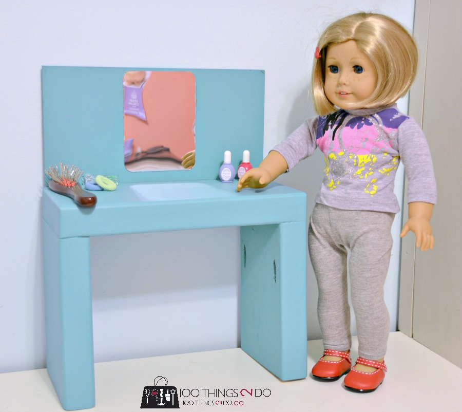 Doll furniture DIY - AG Makeup station / vanity