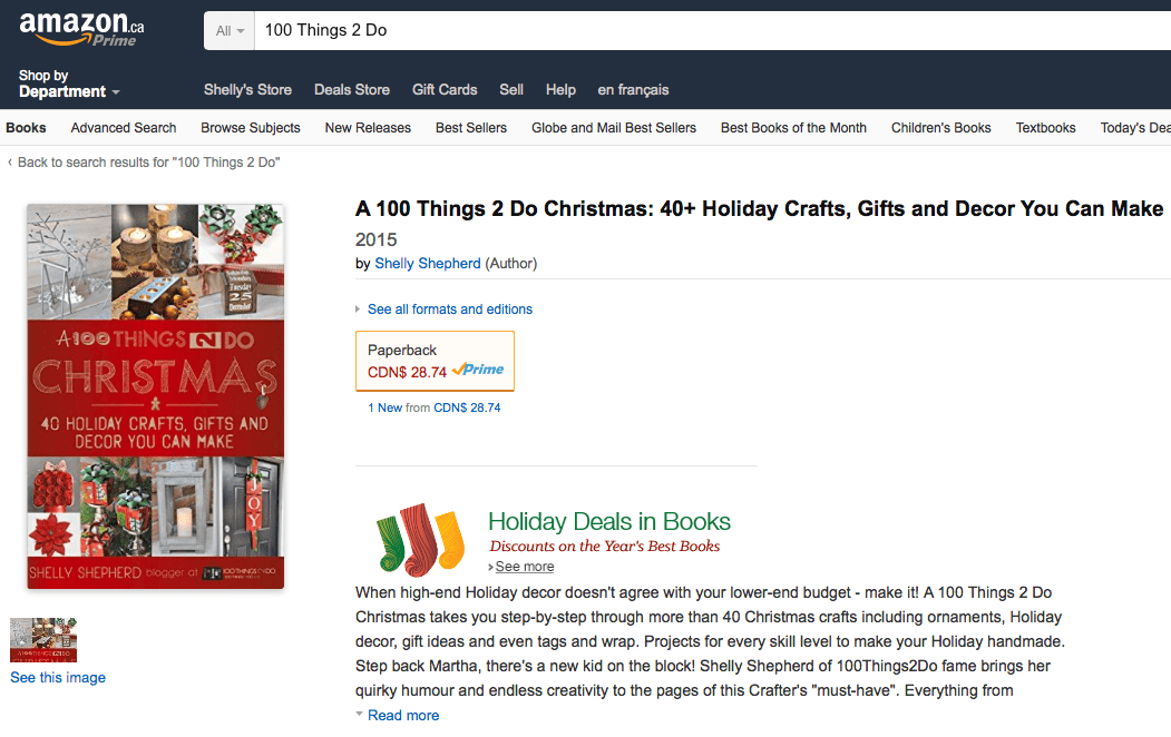 A 100 Things 2 Do Christmas - craft book, Christmas craft book, Christmas crafts, Holiday Crafts