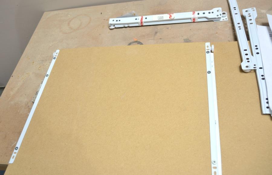 Attaching drawer glides - sliders - 1