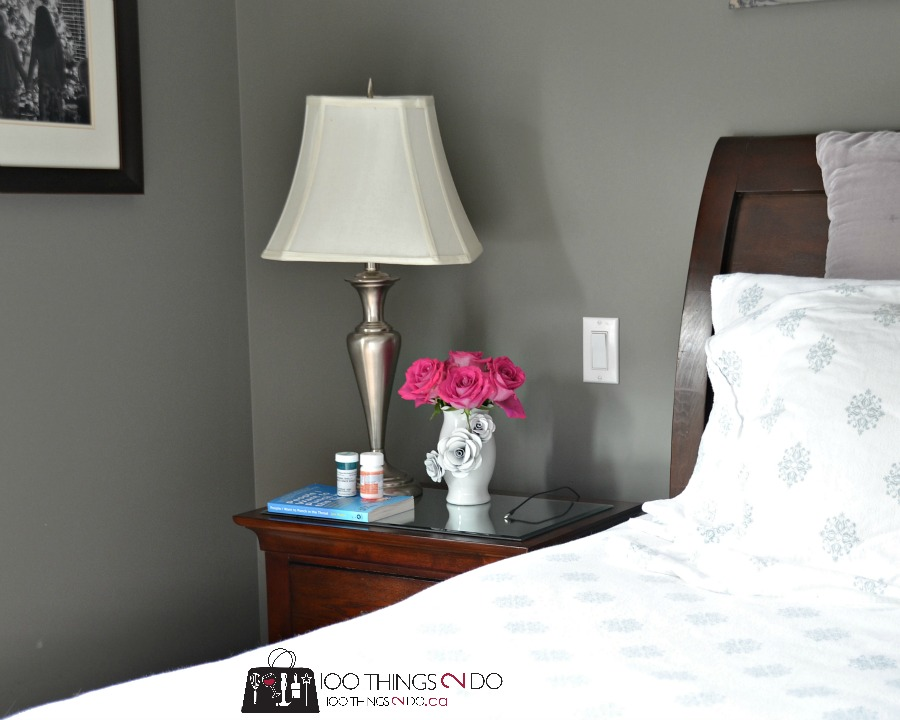 How to brighten your bedroom - add a mirror to your nightstand