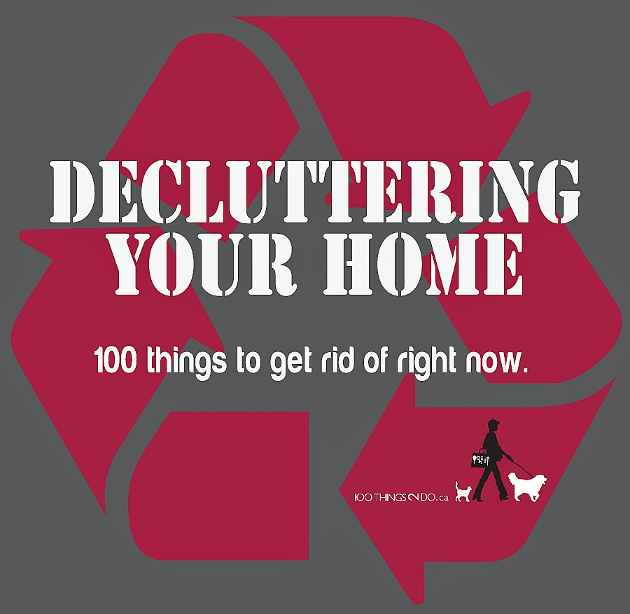 100 Things You Can Get Rid of Right Now - printable checklist