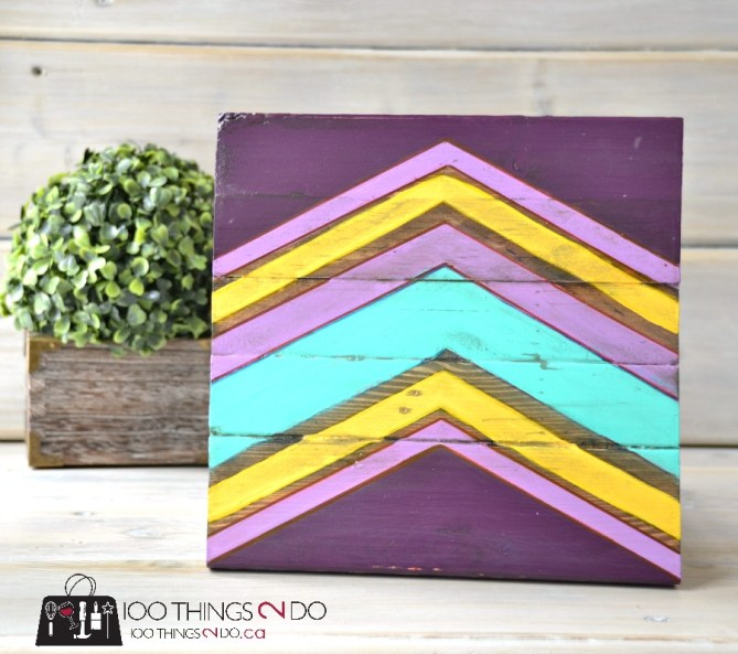 DIY Chevron Art on Scrap Wood 2 - 2
