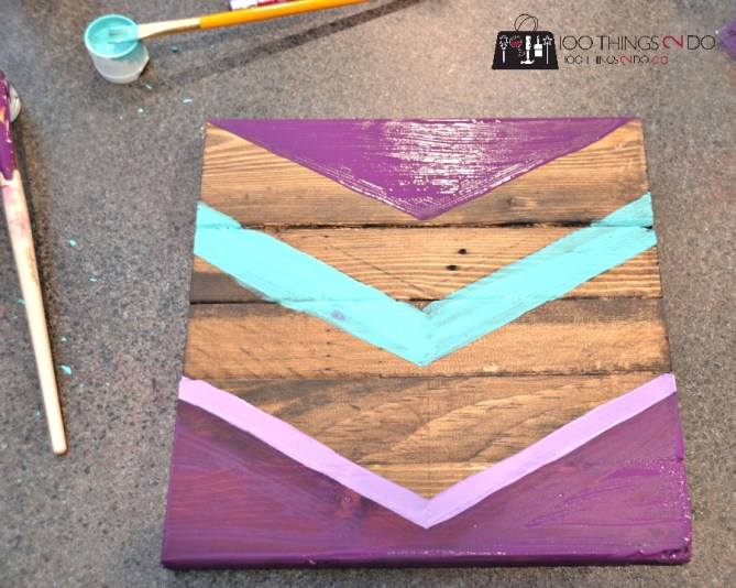DIY Chevron Art on Scrap Wood - 3