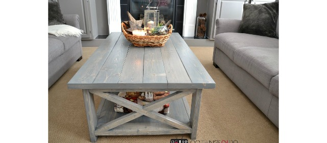View Larger Image DIY Rustic X Coffee Table   Build It Yourself In An  Afternoon!