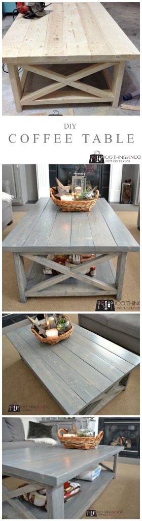 DIY Rustic X Coffee Table P