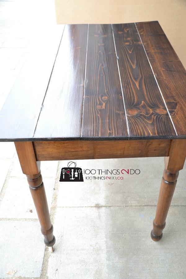 Antique farmhouse table desk 10