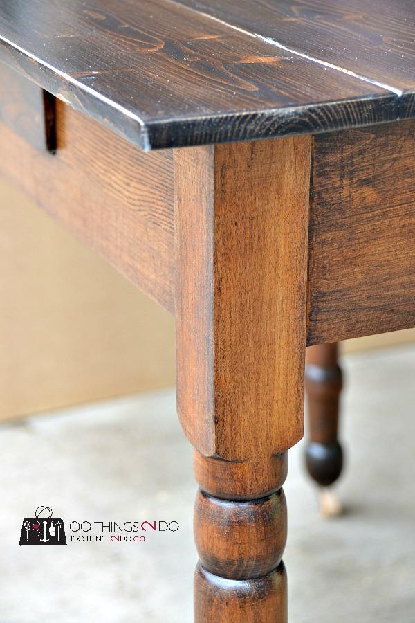 Antique farmhouse table desk 8