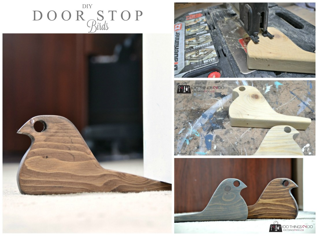 DIY Door stop - Scrap wood bird doorstops