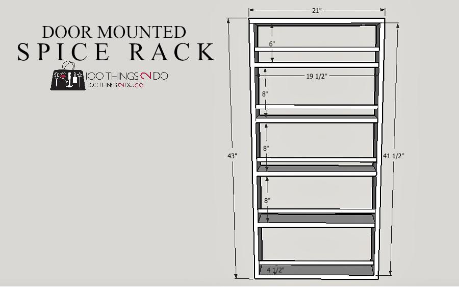 DIY Door Mounted Spice Rack: