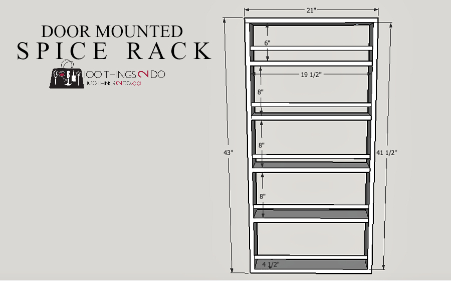 DIY Door Mounted Spice Rack: