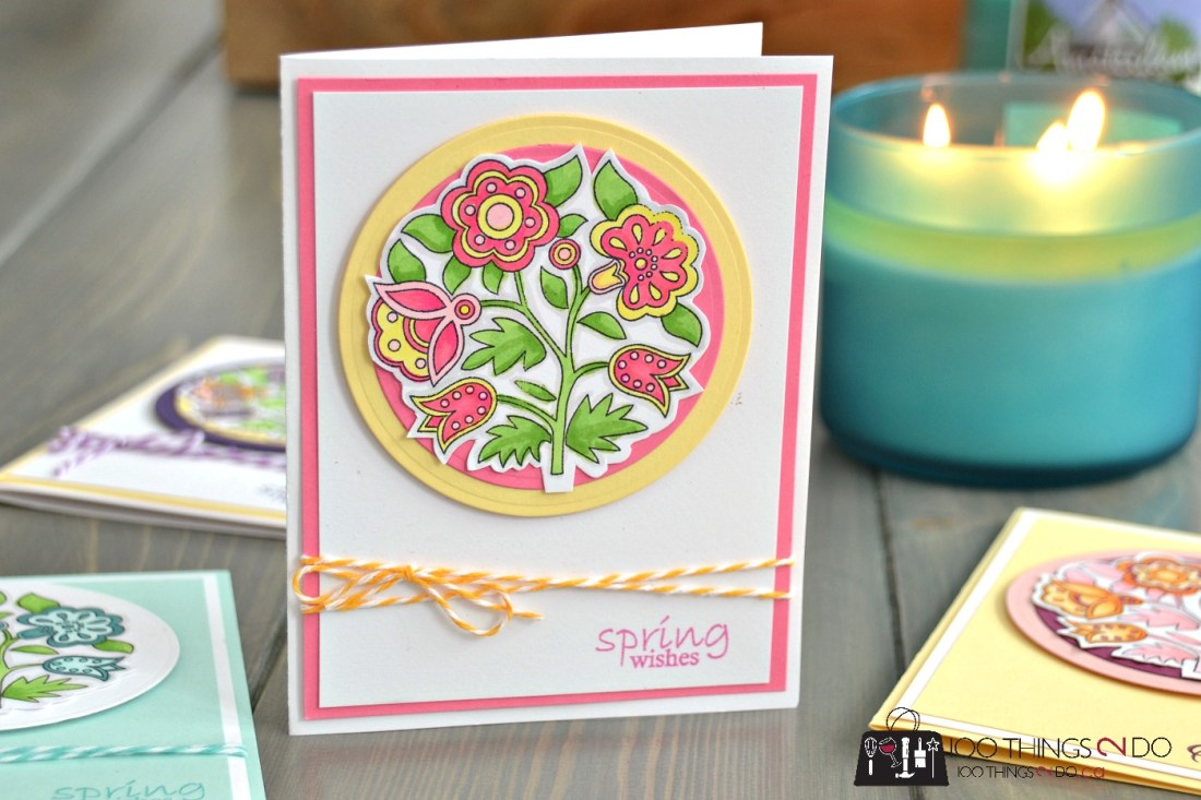 Easter Wishes - adult colouring Easter cards 4