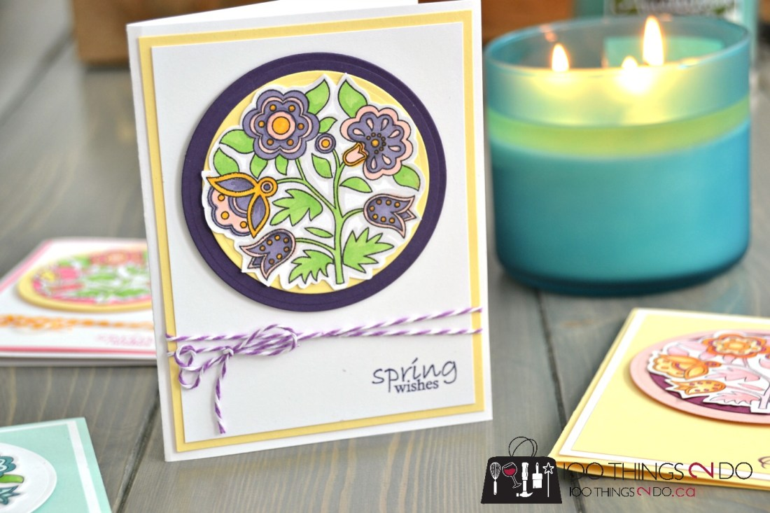 Easter Wishes - adult colouring Easter cards 5