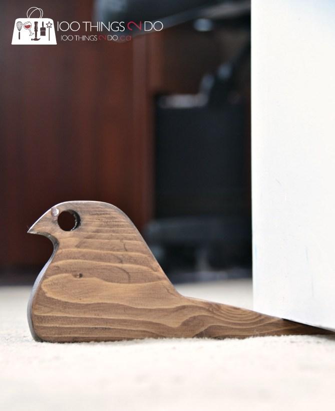 Scrap wood bird doorstops 3 - 4