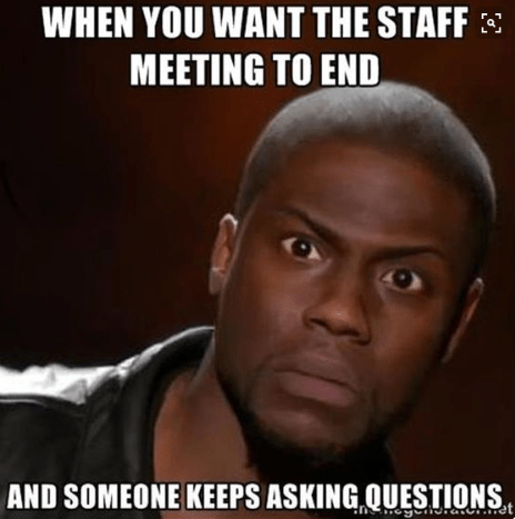 Too funny - staff meeting