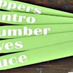 DIY Garden Markers from paint sticks