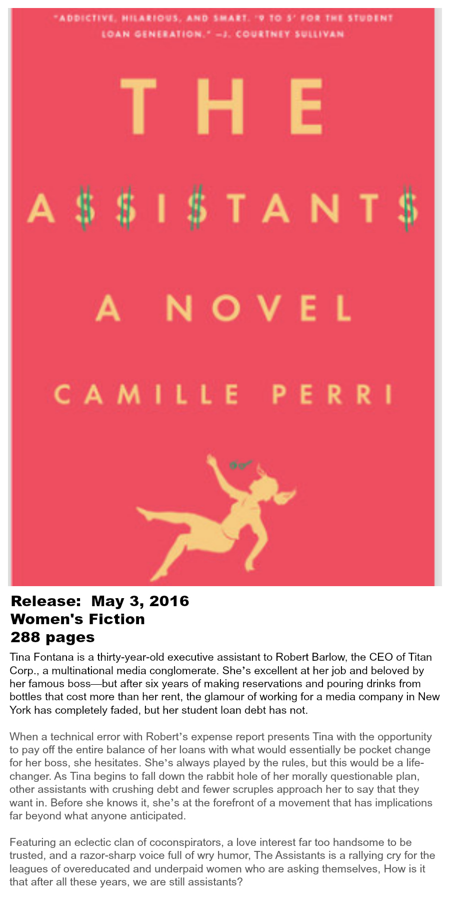 Must-read Books of Summer 2016 - The Assistants Camille Perri