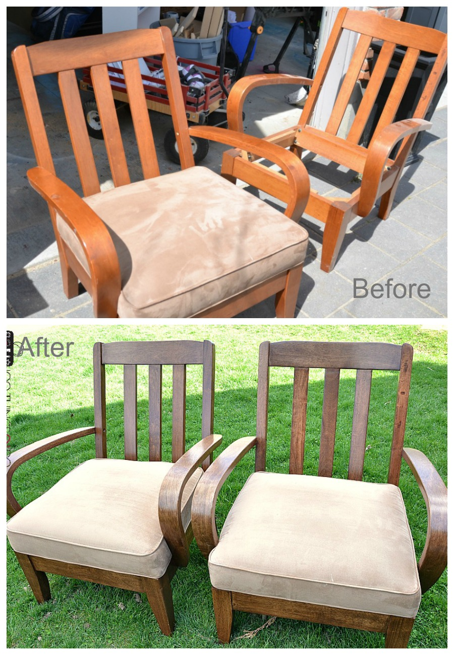 office chair makeover. Office Chair Makeover - Refinished Chairs 0