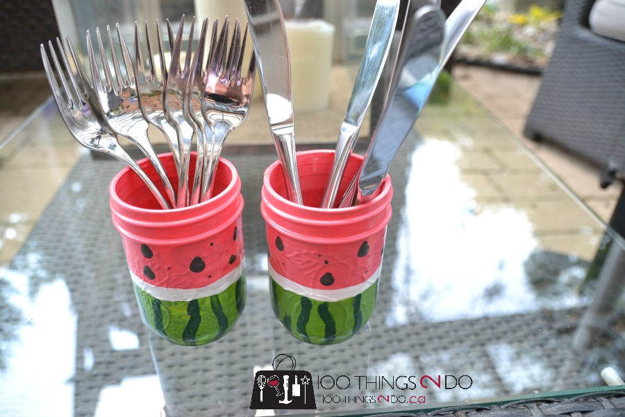 Watermelon utensil holders 3 - 7