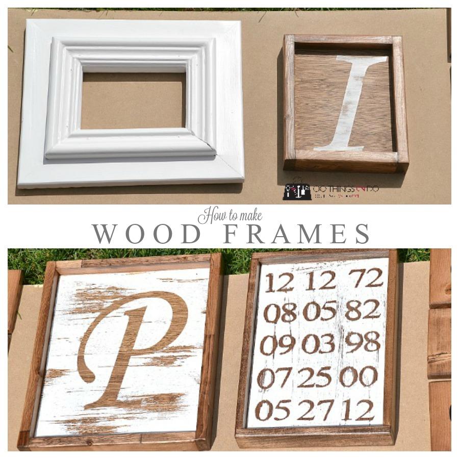 How to make wood frames easy diy how to make wood frames p jeuxipadfo Choice Image