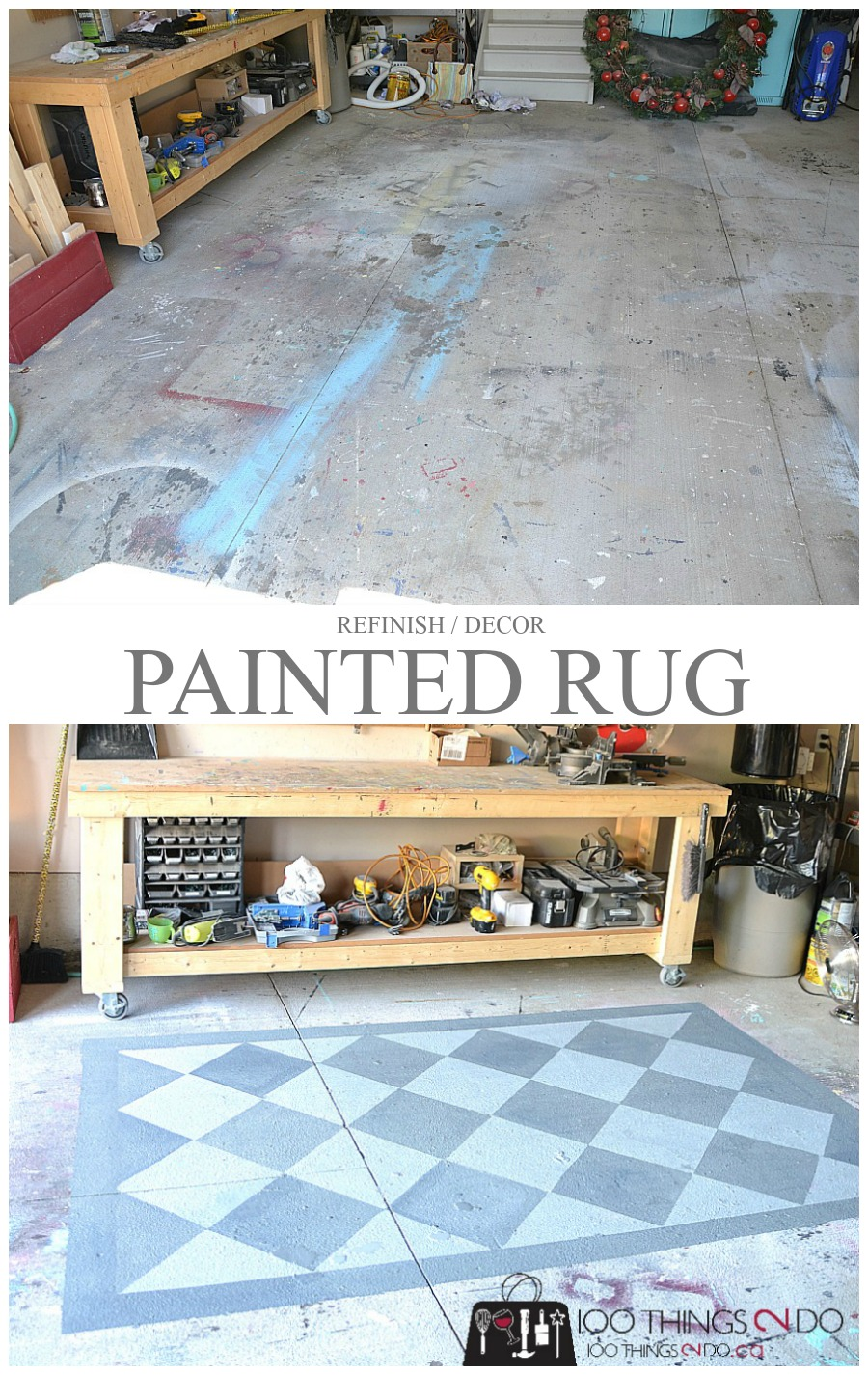 Painted Garage Floor Cement Area Rug 100 Things 2 Do