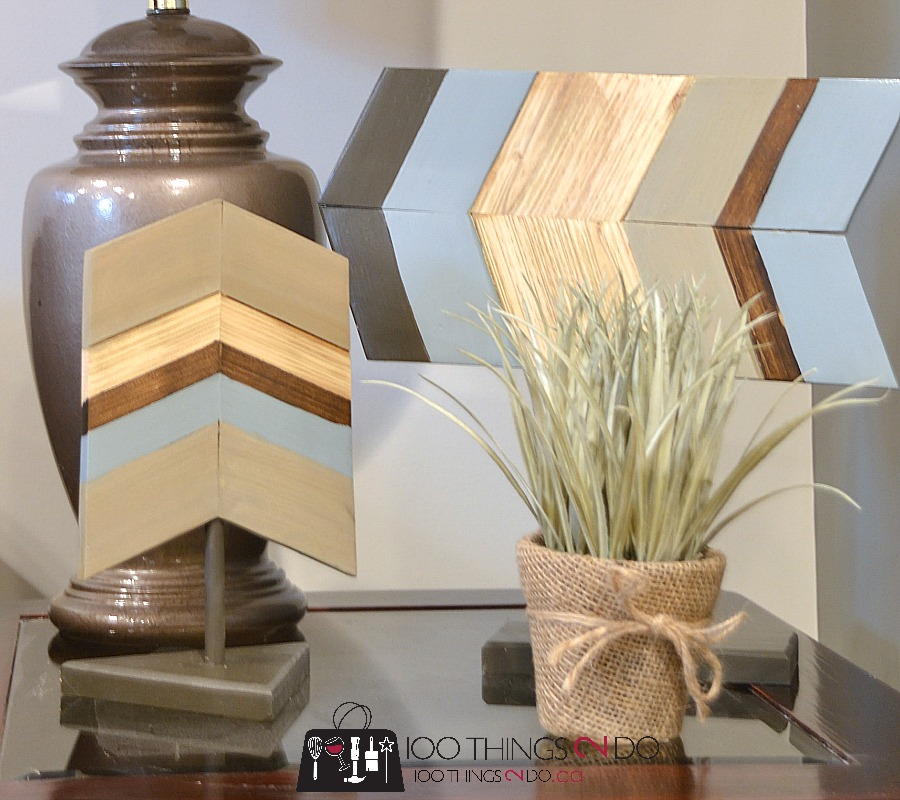 Chevron home decor, wood chevron, decorating with chevron, scrap wood chevron, wood arrow,