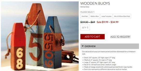 Pottery Barn Inspired Wooden Buoys